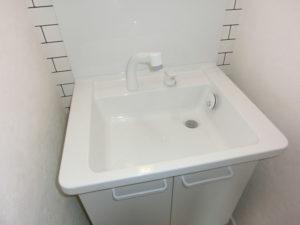 シャワー水栓、広い洗面ボウル装備