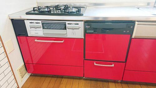 ビルトインコンロ、食洗機