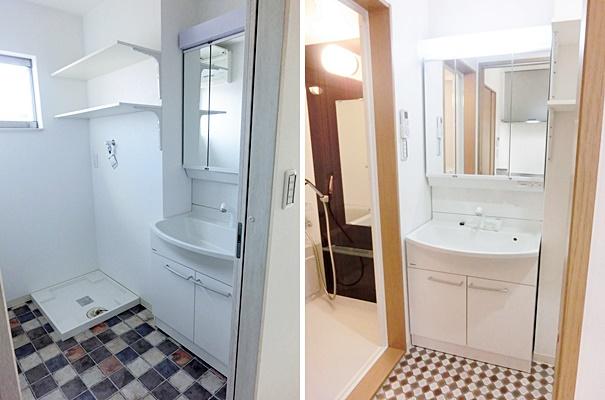 独立洗面化粧台 3面鏡、ハンドシャワー付き panasonic製
